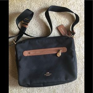 Black canvas Crossbody coach
